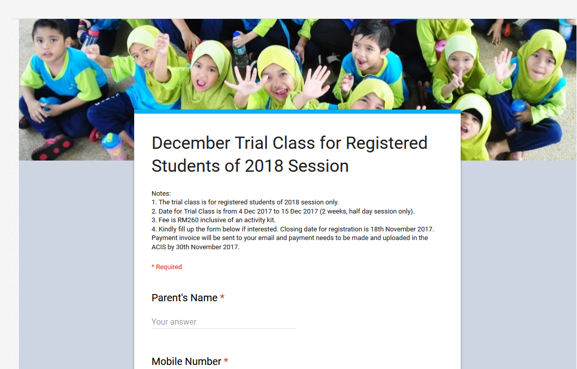 Registered Students of 2018 Session